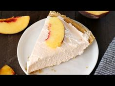 No-Bake Peach Cheesecake | Love Bakes Good Cakes