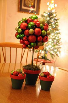 Christmas Table Top Topiary