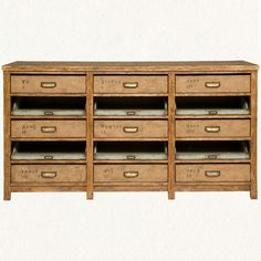 Nine-Drawer Console