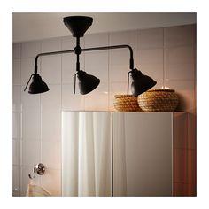 "VITEMÖLLA Triple ceiling spotlight, metal metal - Length: 29 1/2 "" (75 cm)  Height: 11 3/4 "" (30 cm)  Base diameter: 4 3/4 "" (12 cm)  Shade diameter: 4 "" (10 cm)"