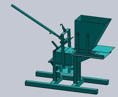 Interlock Brick maker - STEP / IGES - 3D CAD model - GrabCAD Roof Truss Design, Brick Design, Interlocking Concrete Blocks, Cama Design, Barrel Stove, Brick Roof, Brick Works, Brick Molding, Metal Bending