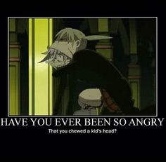 Maka, off of Crona...he can't deal with that...