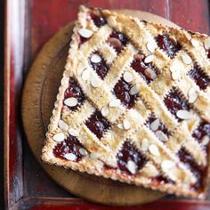 Cherry-Almond Tart. I'd rather have cranberry. Serve with Cinnamon ...