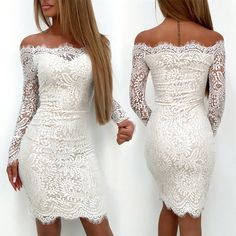 engagement party dress or rehearsal dinner dress! white lace