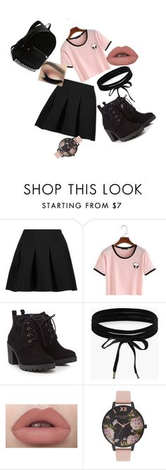 """""""Pink"""" by ebonyadelle2 on Polyvore featuring T By Alexander Wang, Red Herring, Boohoo, Olivia Burton and Victoria's Secret"""