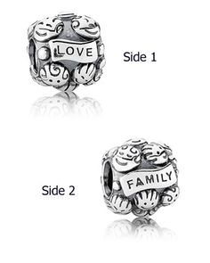Pandora Silver Love and Family Charm Available at: www.always-forever.com
