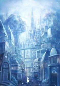 43 ideas anime art fantasy scenery for 2019 Anime Art Fantasy, Fantasy Concept Art, Fantasy City, Fantasy Castle, Fantasy Places, Fantasy Artwork, Fantasy World, Fantasy Art Landscapes, Fantasy Landscape
