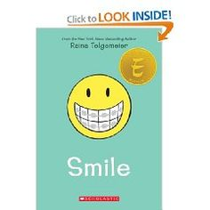 Smile [Paperback], (braces, oral hygiene, graphic novel, dentistry, friendship, graphic memoir, kids, young adult, childrens books, orthodontics)