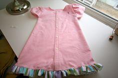 Make a Girl's Dress from a Men's Dress Shirt