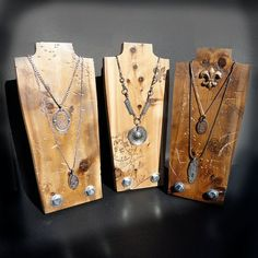 Necklace Display Jewelry Display SET OF 3 Necklace by NolaSpirit