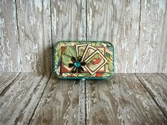 Altered Altoids® Tin Table or Desk Top Travel Vacation Safari Adventure, Altoids Tins, Green Butterfly, Graphic 45, Vacation Trips, Altered Art, Animals And Pets, Recycling, Desk