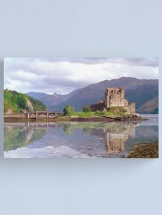 """Eilean Donan Castle Canvas Print by goldyart Eilean Donan, Scottish Highlands, Monument Valley, Vibrant Colors, Castle, David, Canvas Prints, Landscape, Portrait"