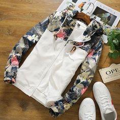 F-Design Floral Zip-Up Jacket