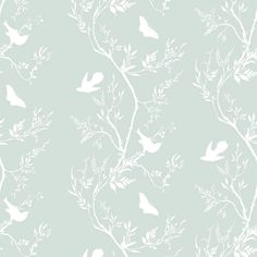 Timorous Beasties Birdbranch Stripe Hand Printed Wallpaper