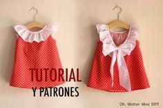 Aprender a coser: Vestido para niñas (patrones gratis tallas 1 a 7 años)