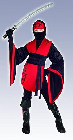Ninja Costume - cut pillowcase up center, wrap fabric belt around chest