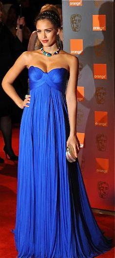 2016 Royal Blue Empire Maternity Evening Dresses Sweetheart Ruched Tulle Celebrity Formal Night Gowns For Pregnant Women Elegant Blue Evening Dresses, Evening Gowns, Blue Dresses, Prom Dresses, Formal Dresses, Late Evening, Street Style Jessica Alba, Elegant Dresses, Pretty Dresses