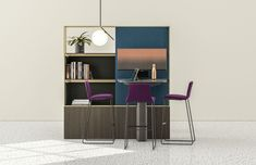 Mackinac creates microzones where people can easily transition between work modes – from working alone to working with others, or a quick moment of respite. Work Surface, Bookcase, Desk, Shelves, In This Moment, Inspiration, Spaces, Home Decor, People