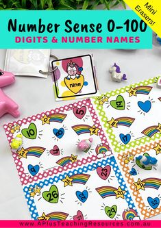 Our Numbers Recognition Flip & Cover Number Sense Games Playpacks are perfect printables for M Number Recognition Activities, Number Sense Activities, Math Activities For Kids, Math For Kids, Classroom Activities, Math Games, Numbers Kindergarten, Teaching Numbers, Preschool Kindergarten