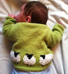 (6) Name: 'Knitting : Fluffy Baby Sheep Jacket and Hat