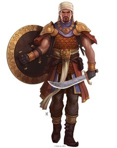 Keleshite Male - Pathfinder character art