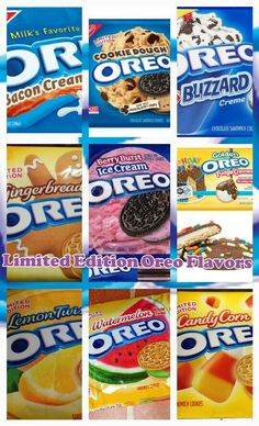 123 456 789 3 looks best! Yummy Snacks, Yummy Treats, Delicious Desserts, Sweet Treats, Snack Recipes, Dessert Recipes, Yummy Food, Weird Oreo Flavors, Cookie Flavors