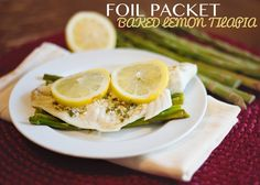 Baked Lemon Tilapia - I am always looking for more ways to get fish on our menu, and this looks delicious!
