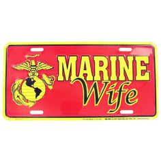 Marines Wife Auto Plate