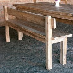 Farm style bench with back rest