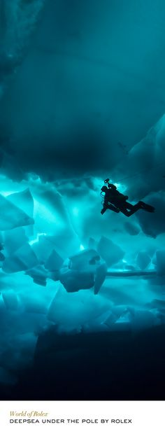 Deepsea Under the Pole by Rolex – a pioneering adventure – combined ski trekking and scuba diving above and under the North Pole ice cap.