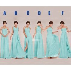 The Tiffany blue bridesmaid dresses are fully lined, 8 bones in the bodice, chest pad in the bust, lace up back or zipper back are all available, total 126 colors are available.  Most brides order all bridesmaid dresses at a time, we recommend this way, firstly, we could use the same roll materia...