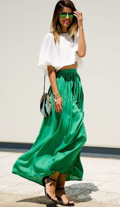 Maxi skirts for short girls to look taller