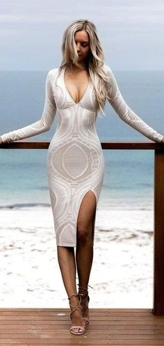 Bright lace Bodycon Dress                                                                             Source