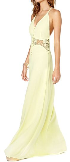 Citron lace maxi