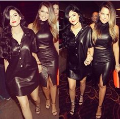 Love love LOVE Kylie's dress shirt !! Say yes to leather baby