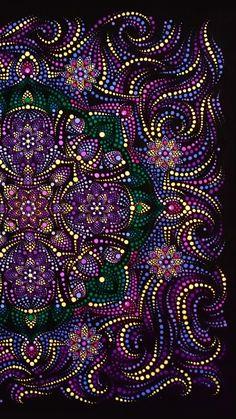 Mandala Canvas, Mandala Dots, Mandala Pattern, Mandala Design, Dot Art Painting, Mandala Painting, Pottery Painting, Stone Painting, Aboriginal Dot Art