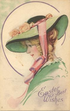 In your Easter bonnet, with all the frills upon it.My dad used to sing this to Kels. Vintage Ephemera, Vintage Cards, Vintage Postcards, Vintage Images, Vintage Easter, Vintage Holiday, Fete Pascal, Easter Art, Easter Ideas