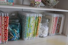 Girl. Inspired used these fabric organizers. I totally need these!