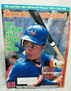 Darryl Strawberry signed New York Mets Sports Illustrated Magazine The Straw April 1984 Baseball Gear, Baseball Players, Royals Baseball, Football, Baseball Cards, Ny Mets, New York Mets, Darryl Strawberry, Si Cover