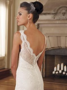 Lace, Low back, veil
