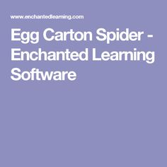 Egg Carton Spider - Enchanted Learning Software