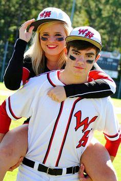 Baseball Cheerleader Couple