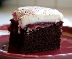 Easiest Black Forest Cake from Food.com:   Super easy cake...made with mixes and already prepared items...but with a homemade taste!