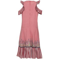Rahul Mishra     Barley Gathered Dress (3.680 RON) ❤ liked on Polyvore featuring dresses, shirring dress, flounce hem dress, rouched dress, pleated dress and shirred dress