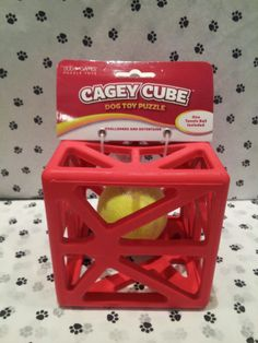 If your dog loves a challenge... The Cagey Cube Puzzle is a great choice! This puzzle is bound to keep your dog occupied... for at least a few minutes! #GodfreysDogdom