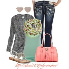 """""""Miss me Jeans & Leopard Scarf"""" by alexis1407 on Polyvore"""