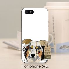 soft black tpu silicone Hot Sale  cover phone case For iPhone se 5s 6s 7 plus case  Australian Shepherd Dog cute animals #Affiliate