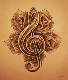 38 Best Ideas For Tattoo Music Abstract Treble Clef Music Tattoos, Body Art Tattoos, Tribal Tattoos, Tatoos, Trendy Tattoos, Tattoos For Women, Cool Tattoos, Note Tattoo, Arm Tattoo