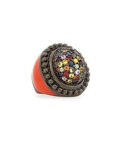 Garden of Spring and Summer Sapphire Dome Ring by MCL by Matthew Campbell Laurenza at Neiman Marcus.
