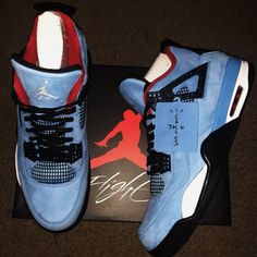 b6eb578591ad Travis Scott x Air Jordan 4 Features Different Heel Logos Travis Scott